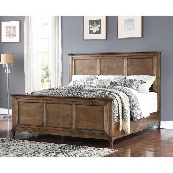 Weathered Oak Bedroom Sets Bedroom Ceiling Options Bedroom Sliding Cupboard Designs Bedroom Lighting Pinterest: Abbyson Cypress Rustic Oak Bed