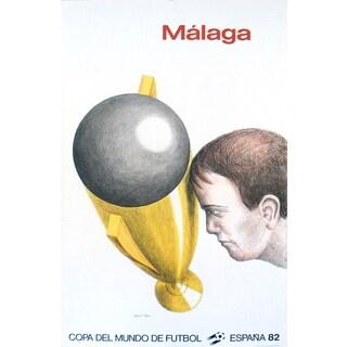 Roland Topor 'Mundial Malaga' 1982 Lithograph, 37.5 x 23.5 inches