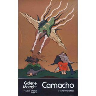 Camacho 'Galerie Maeght' 1982 Lithograph, 27.75 x 17.25 inches