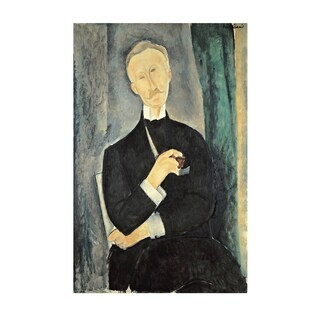 Amedeo Modigliani 'Roger Dutilleul' Mixed Media Art, 22.25 x 15.75 inches