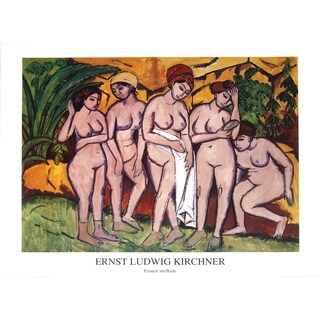 Ernst-Ludwig Kirchner 'The Bathers' Poster, 27.5 x 35.5 inches