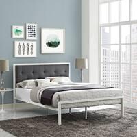 Lottie Upholstered Fabric Platform Bed