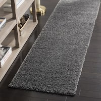 Safavieh Arizona Southwestern Dark Grey Shag Runner (2' x 8') - 2' x 8'