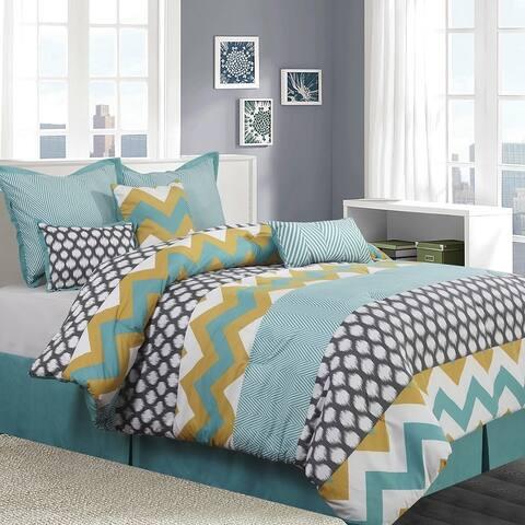 Grand Avenue Nadine 7 Piece Reversible Comforter Set