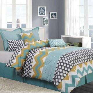 Nolan 7 Piece Reversible Comforter Set