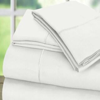 6 Piece 600 Thread Count 100% Cotton Sateen Marrow Hem Sheet Set