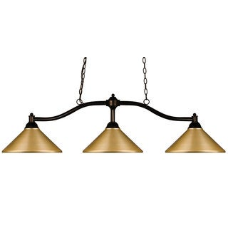 Z-lite Chance Satin Gold 3 Light Billiard Light