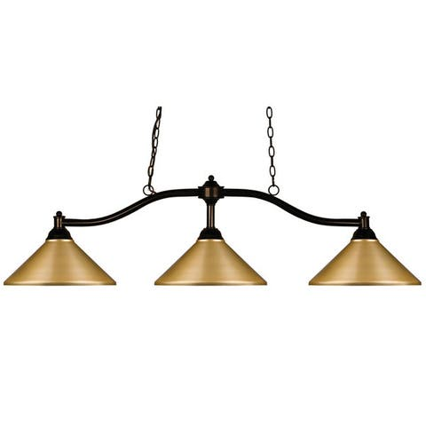 Avery Home Lighting Chance Satin Gold 3 Light Billiard Light
