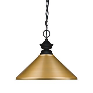 Z-lite Pendant Lights Satin Gold 1 Light Pendant