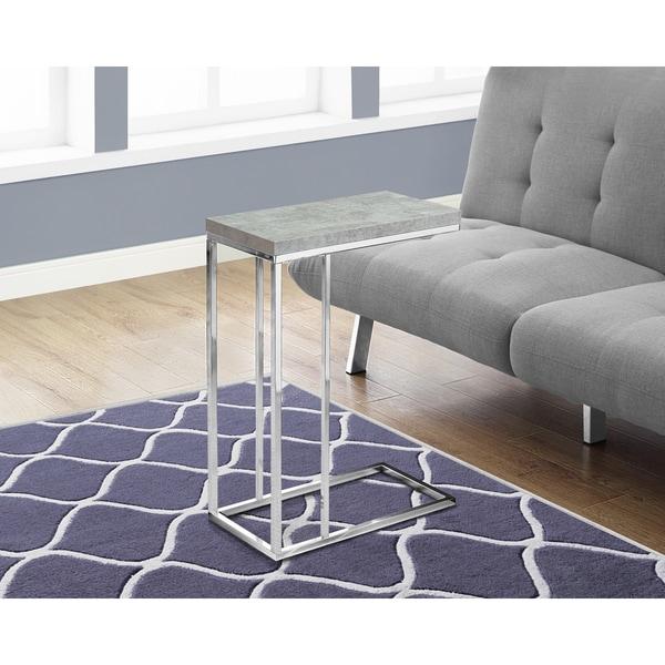 Porch & Den Colmar Grey Metal and Veneer Accent Snack Table