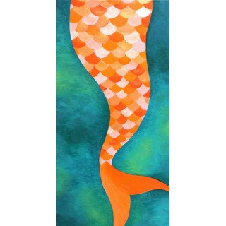 Marmont Hill - 'Mermaid Tail' by Nicola Joyner Painting Print on Wrapped Canvas