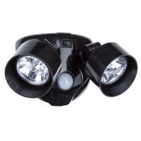 Everyday Home Dual Head Motion Activated 10 LED Security Light - Black