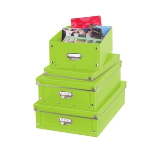 Collapsible Plastic Snap Storage Organizer Bin (Pack of 3)