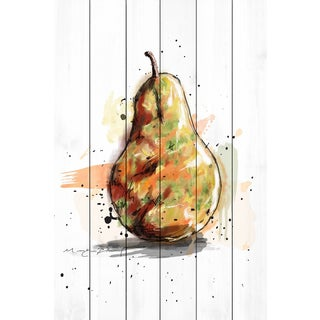 Marmont Hill - 'Poire' by Marie-Eve Pharand Painting Print on White Wood