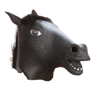 Trademark Innovations Allures Illusions Black Horse Head Costume Mask