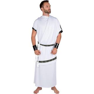 Allures and Illusions Men's White Polyester Grecian Toga Costume