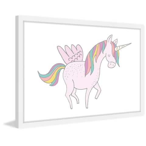 Marmont Hill - Handmade Winged Unicorn Framed Print