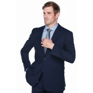 Verno Campana Men's Navy Polyester and Viscose Classic-fit Italian-style 3-piece Suit