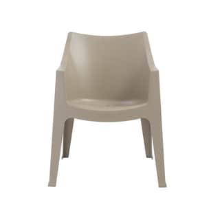 Coccolona Stacking Arm Chair in Taupe - Set of 4