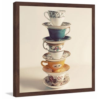 Marmont Hill - 'Teacup Stack' Framed Painting Print