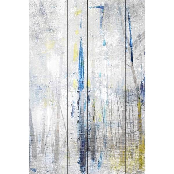 Parvez Taj - 'Tall and Bright' Painting Print on White Wood