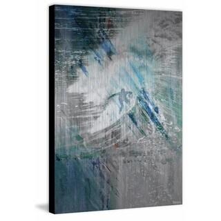Parvez Taj - 'Riding High Surf' Painting Print on Brushed Aluminum