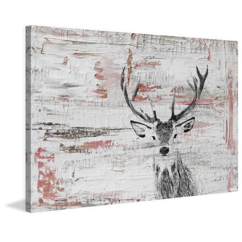 Parvez Taj - 'Deer Glare' Painting Print on Wrapped Canvas