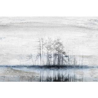 Parvez Taj - 'Tree Island' Painting Print on Wrapped Canvas