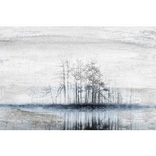 Parvez Taj - 'Tree Island' Painting Print on Wrapped Canvas (More options available)