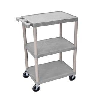 Offex Grey 3-shelf Utility Cart