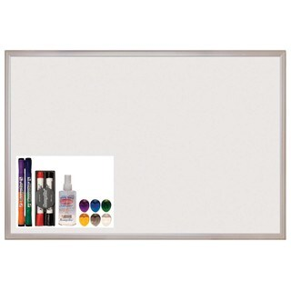 Offex 24 x 36-inch Aluminum Frame Magnetic Dry-erase Message Board Set