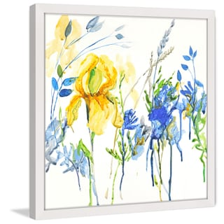 Marmont Hill - 'True Blue' by Julie Joy Framed Painting Print