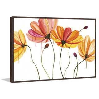 Marmont Hill - 'Luminous Blossoms II' by Julie Joy Floater Framed Painting Print on Canvas