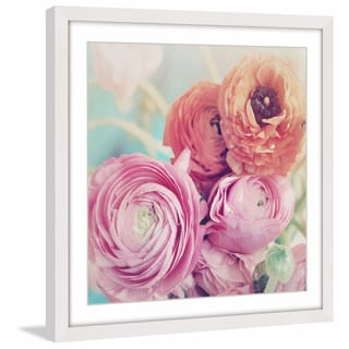 Marmont Hill - 'Ranunculus Bouquet' Framed Painting Print