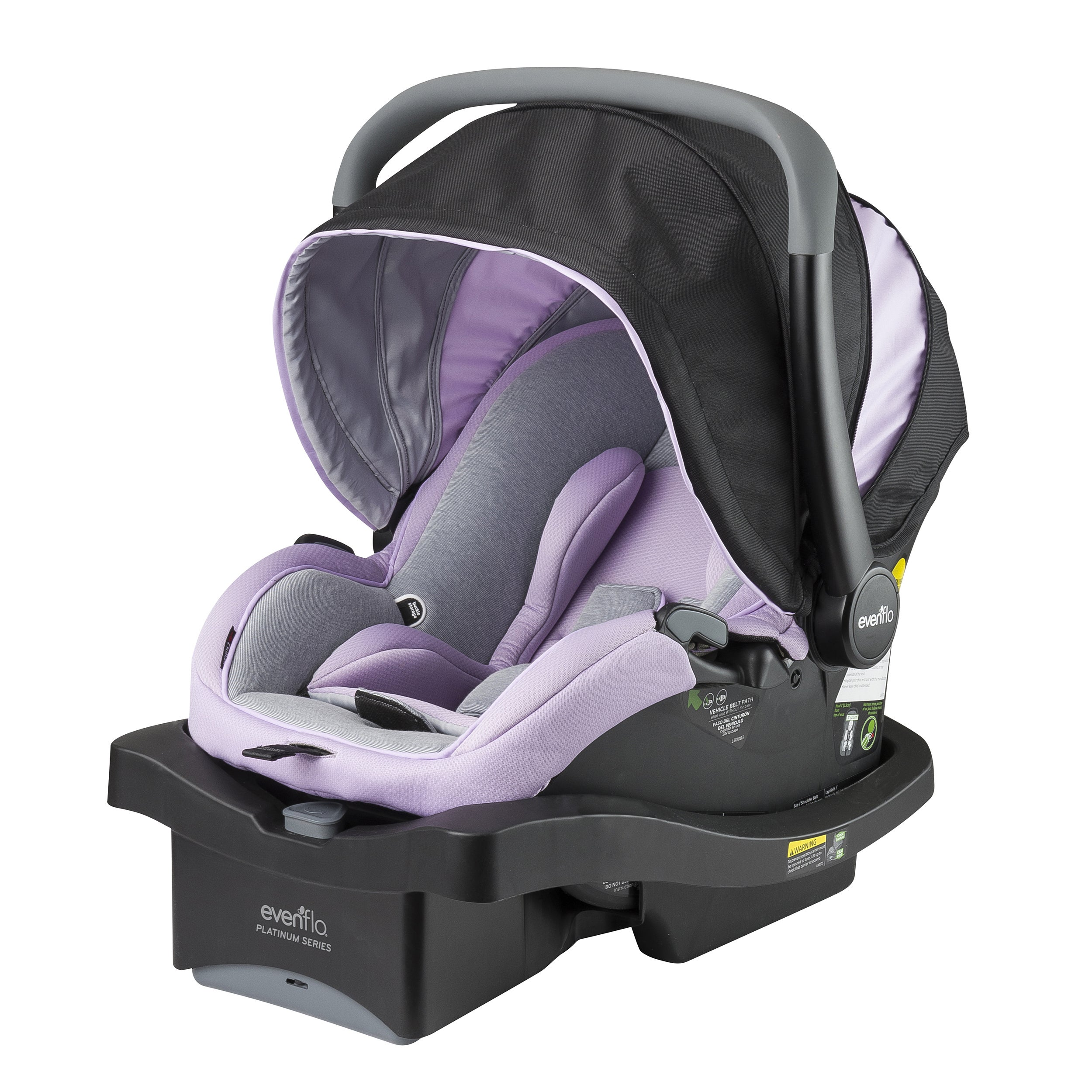 Evenflo Platinum LiteMax 35 Infant Car Seat (Aurora), Grey
