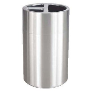 Safco Triple Bin Waste Recycling Receptacle