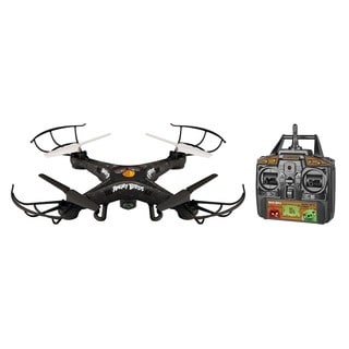 Angry Birds Licensed Bomb Squak-Copter Black 4.5-channel 2.4-gigahertz Remote Control Camera Drone