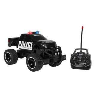 World Tech Toys Ford F150 SVT Raptor Black Officially Licensed 1:14 RC Police Truck