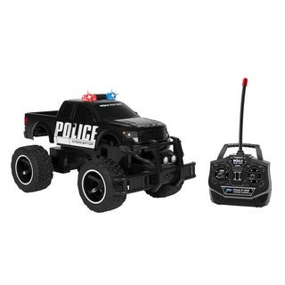 World Tech Toys Ford F150 SVT Raptor Black Officially Licensed 1:14 RC Police Truck
