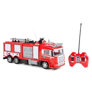 World Tech Toys Boys and Girls Fire Rescue Water Cannon RC Red Plastic Fire Truck|https://ak1.ostkcdn.com/images/products/13733379/P20392139.jpg?_ostk_perf_=percv&impolicy=medium