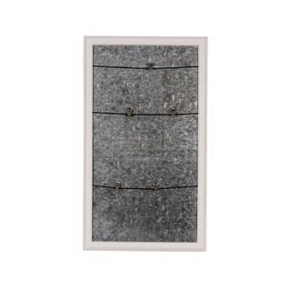 Walcott Wood-framed Magnetic Board w/ Clip Wall Organizer