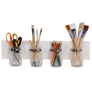 Designovation Ian Mason Jar Decorative Hanging Wall Organizer