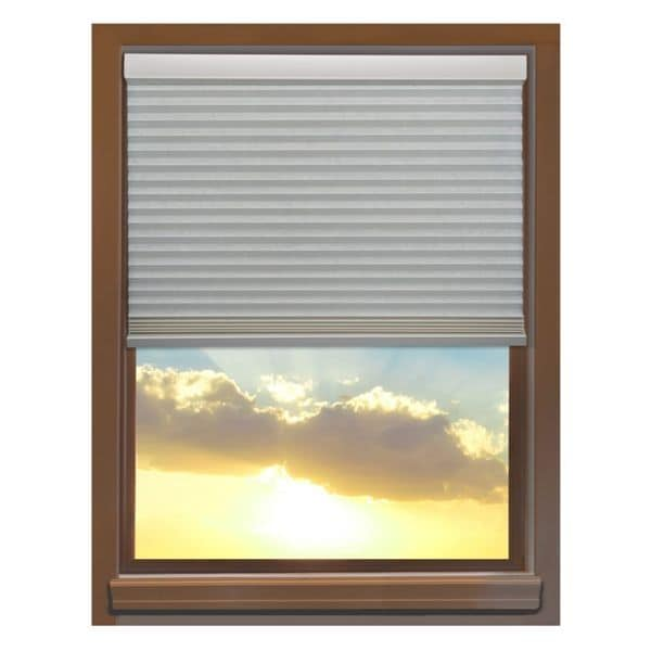 Linen Avenue Custom Cordless 34 to 35-inch Wide Seashell Blackout Cellular Window Shade. Opens flyout.