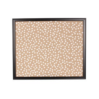 Designovation Walcott Framed Printed Burlap Fabric Pinboard Wall Organizer