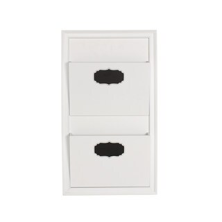 Designovation Walcott White Wood Decorative Wall Organizer 2-pocket Mail Holder (2 options available)