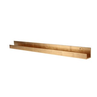 Levie Solid-colored Wood Modern Floating Wall Shelf