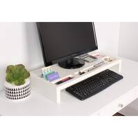 Kate and Laurel Briggs Wood Desktop Organizer Monitor Bridge
