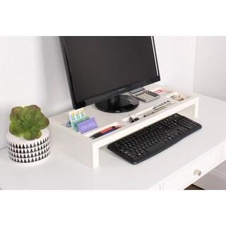 Kate and Laurel Briggs Wood Desktop Organizer Monitor Bridge
