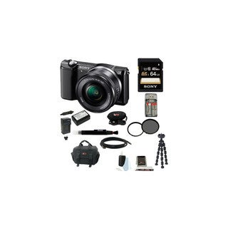 Sony Alpha a5000 Mirrorless Digital Camera (Black) Deluxe Bundle