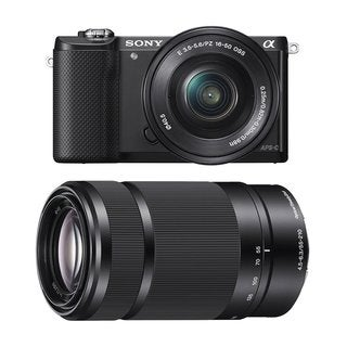 Sony Alpha a5000 Mirrorless Digital Camera w/ 16-50mm f/3.5-5.6 & 55-120mm f/4.5-6.3 Lenses